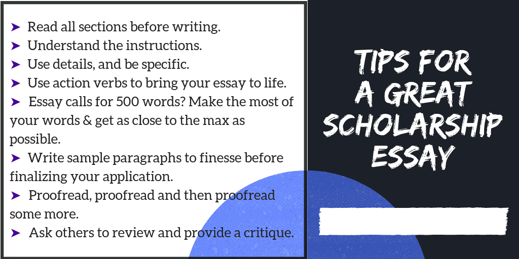 Tips for a Great Scholarship Essay